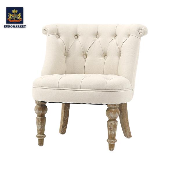 リネン調ファブリックラムズゲイトチェア RAMSGATE CHAIR 一人掛け シングル 椅子 ソファ アンティーク ナチュラル ヴィンテージ レトロ 北欧 リネン 布地 ベージュ アイボリー ホワイト 白色 おしゃれ 店舗 家具 雑貨 AJ1F80N