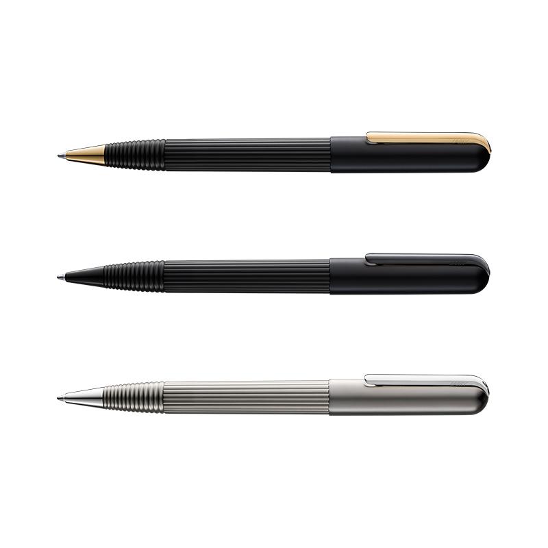 【名入れ不可】【取り寄せ品】ラミー LAMY インポリウム ボールペン ブラック/ゴールド ブラック/ブラック チタン