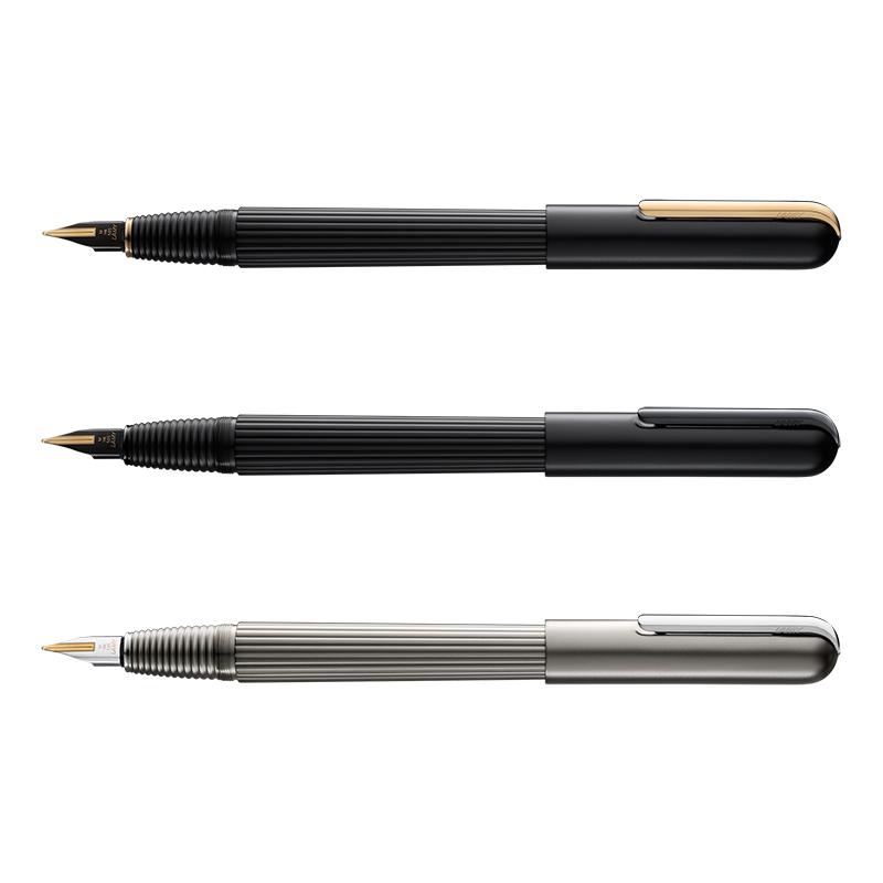 【名入れ不可】【取り寄せ品】ラミー LAMY インポリウム 万年筆 ブラック/ゴールド ブラック/ブラック チタン