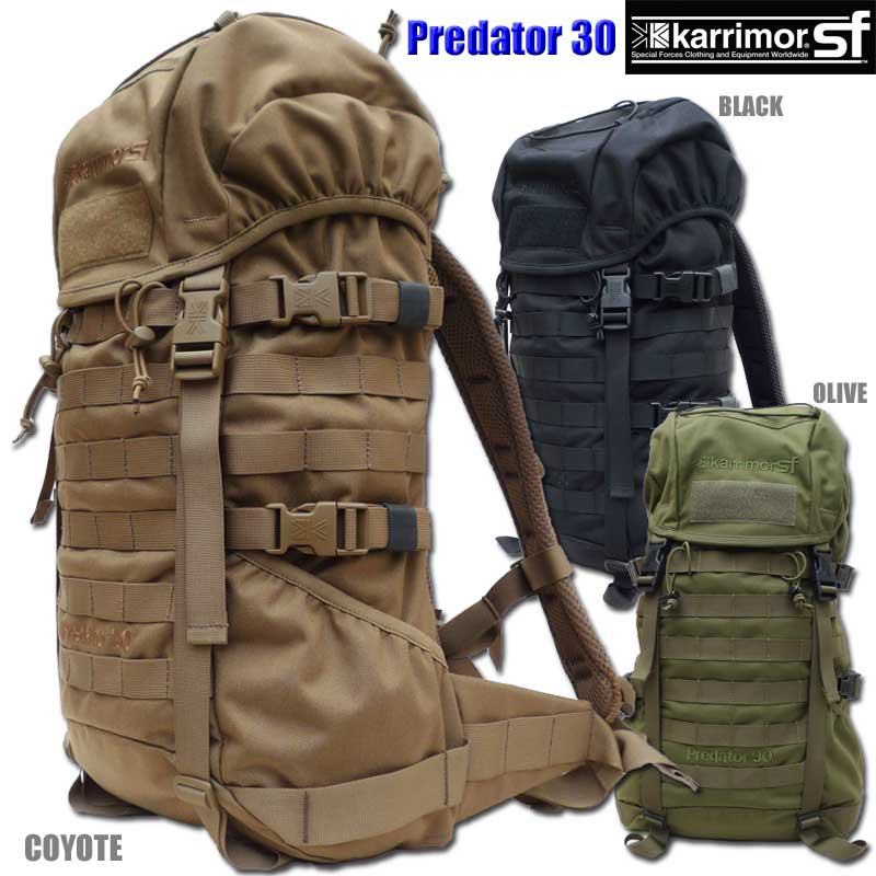 【正規輸入代理店直売】karrimor SF Predator 30 M050 ・カリマー SF プレデター 30【送料無料】ミリタリー バックパック リュックサック