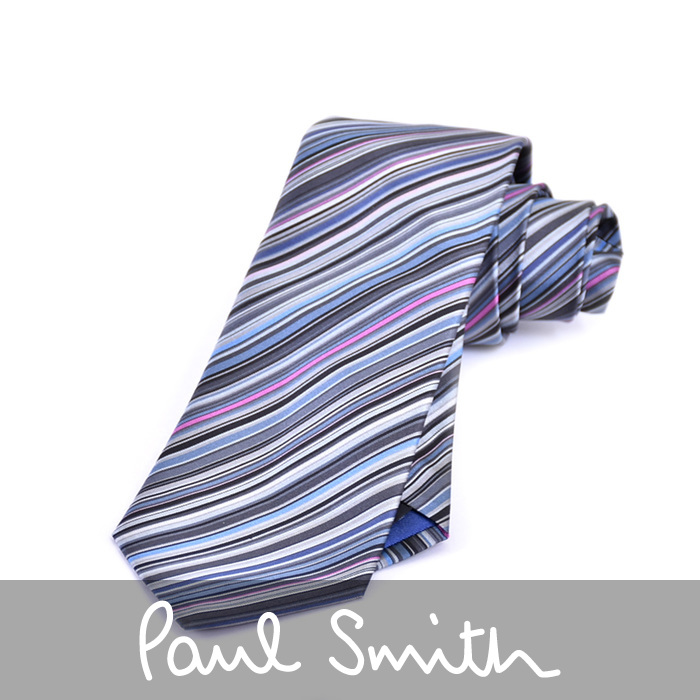 PAUL SMITH ポール スミス ネクタイ グレー 552M X62 E 【送料無料】【メンズ】