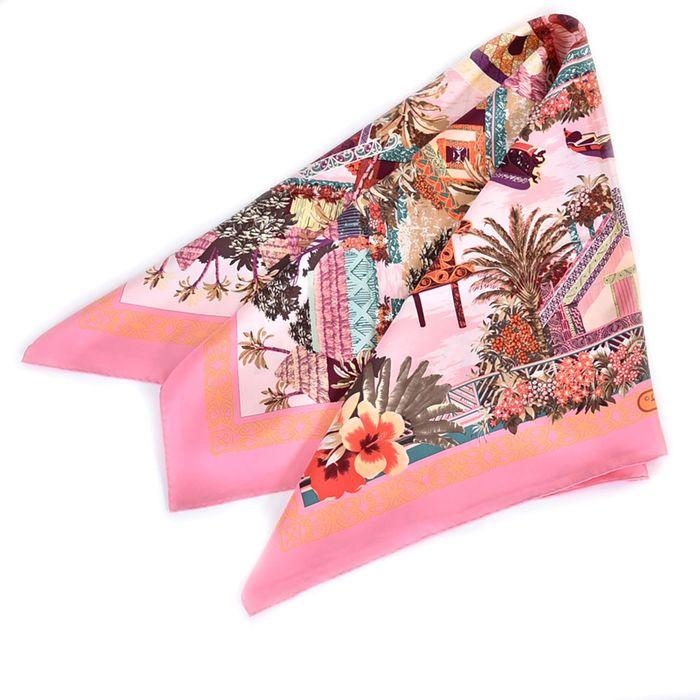 フェラガモ シルク スカーフ FERRAGAMO 31-6984-08 ピンク ラスト1点 母の日 プレゼント