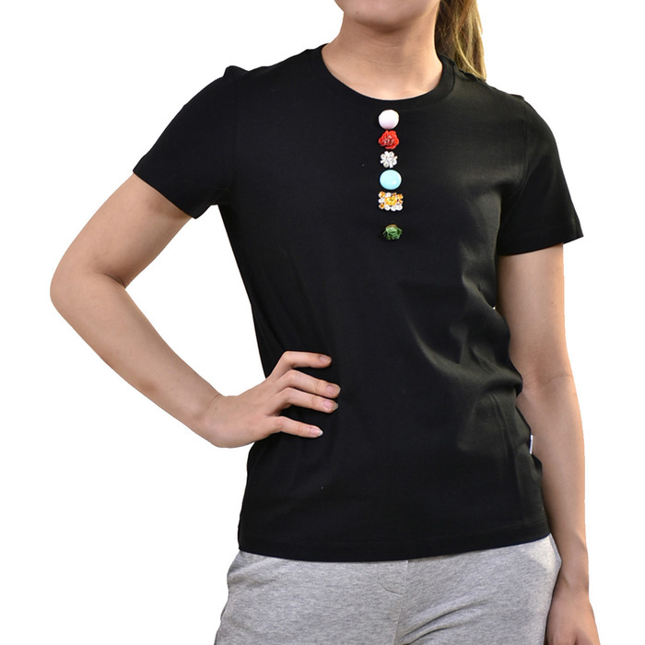 ドンダップ Tシャツ DONDUP S007 JF049D Q37 ブラック 母の日 プレゼント