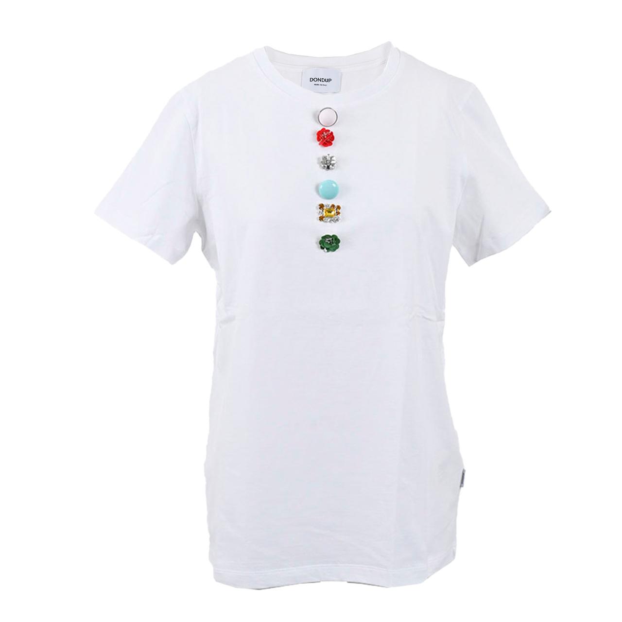 ドンダップ Tシャツ DONDUP S007 JF049D Q37 ホワイト 母の日 プレゼント