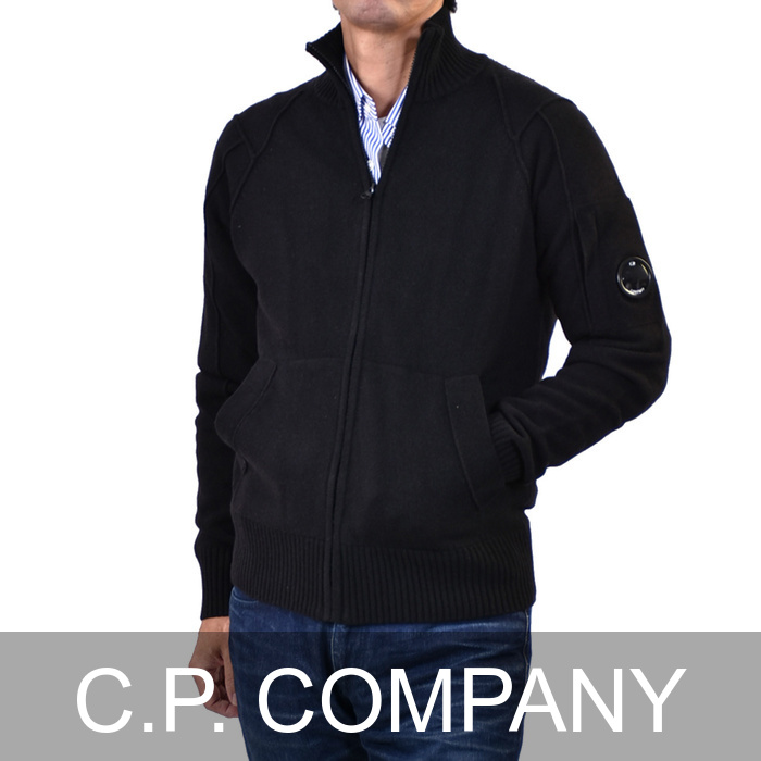 オープニング 大放出セール シーピーカンパニー ジップアップ 005107A ブラック ウールニット C.P. Company 05CMKN061A 005107A 999 05CMKN061A ブラック, Candy:2a439d8d --- business.personalco5.dominiotemporario.com