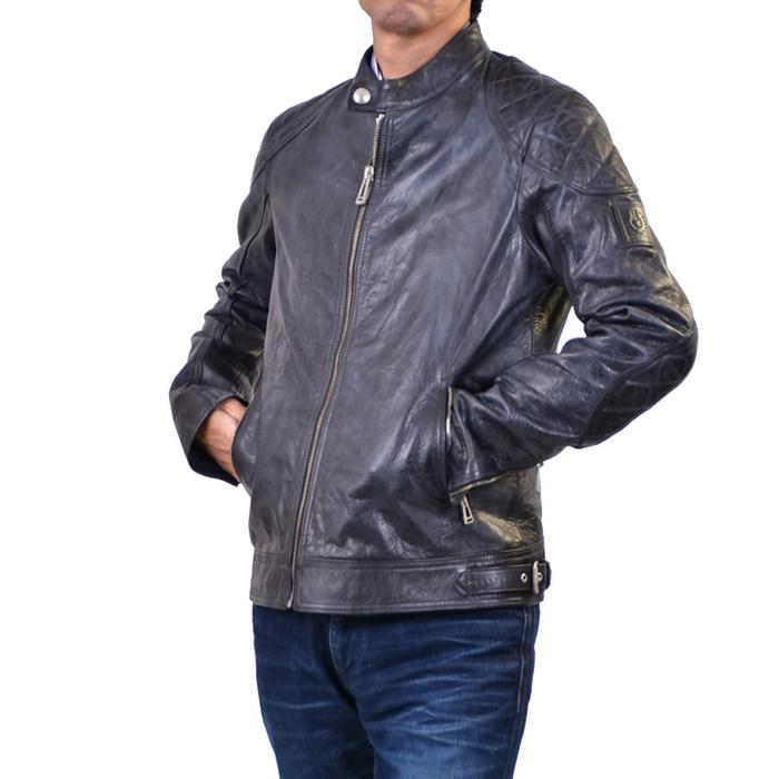 ベルスタッフ ハンドワックスレザー ジャケット BELSTAFF 71020666 MAXFORD ブルー メンズ