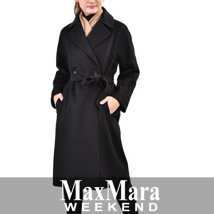 マックスマーラ ウィークエンド ウールダブルコート MAXMARA WEEKEND KATAI 50160983 13 ブラック