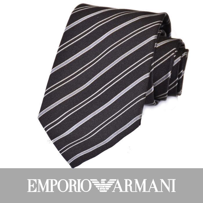 エンポリオアルマーニ ネクタイ EMPORIO ARMANI 8A307 00020 ブラック