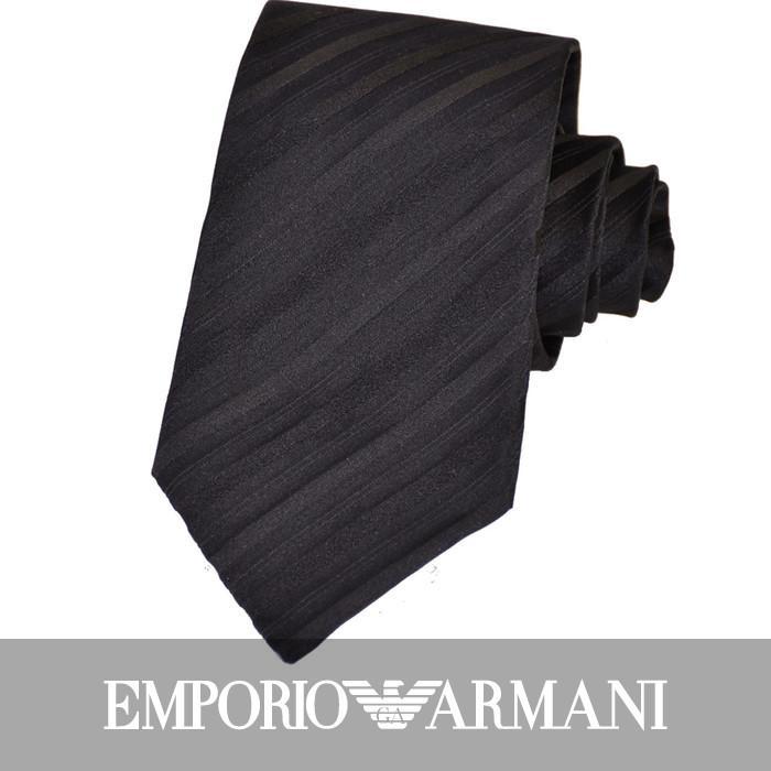 エンポリオアルマーニ 冠婚葬祭 ネクタイ EMPORIO ARMANI 8P335 00020 ブラック お葬式