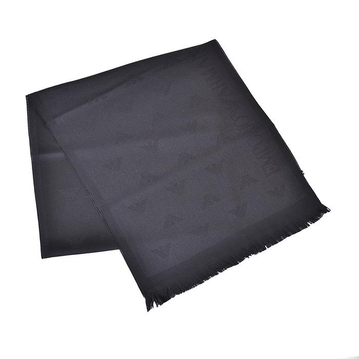 エンポリオアルマーニ マフラー ストール EMPORIO ARMANI 8P306 00020 ブラック ユニセックス ギフト プレゼント