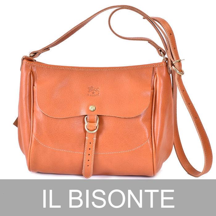 イルビゾンテ レザー ショルダーバッグ IL BISONTE A2397P 145 キャメル