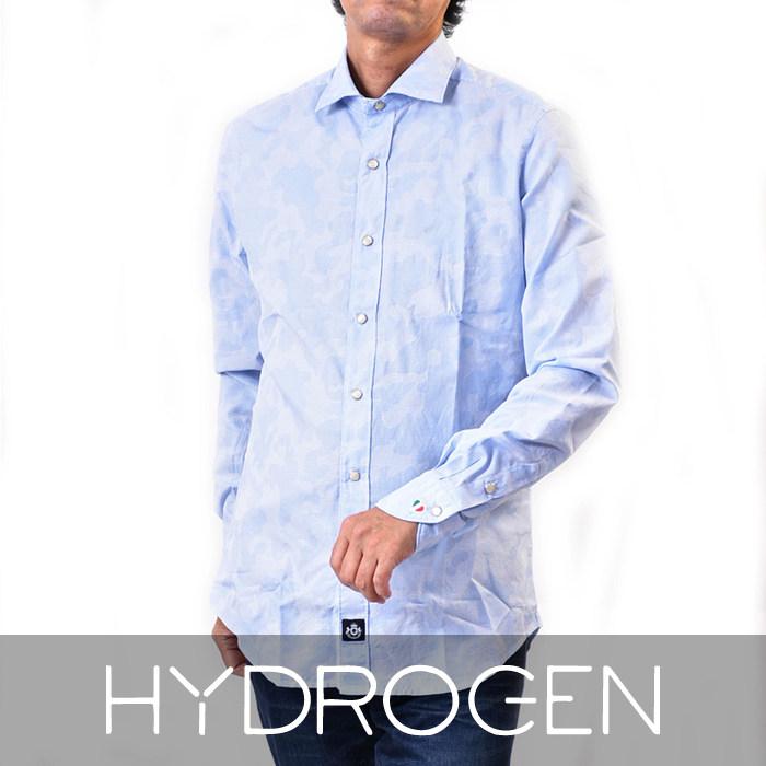 ハイドロゲン CLASSIC MOD カモフラージュシャツ HYDROGEN 230410 A93 ブルー