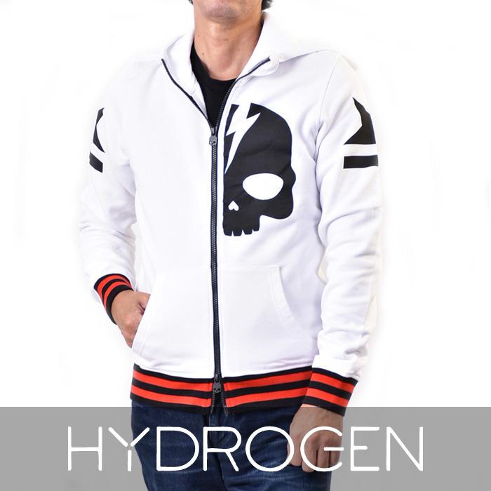 ハイドロゲン ジップアップ スウェット パーカー HYDROGEN 230642 001 ホワイト