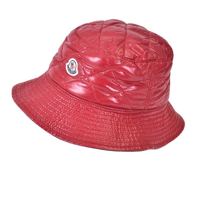 モンクレール 中綿キルティング ハット 帽子 MONCLER 0090200 68950 438 レッド ラスト1点  母の日 プレゼント ギフト