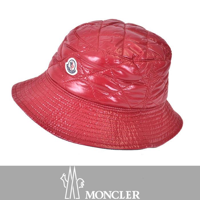 モンクレール 中綿キルティング ハット 帽子 MONCLER 0090200 68950 438 レッド ラスト1点 母の日 プレゼント