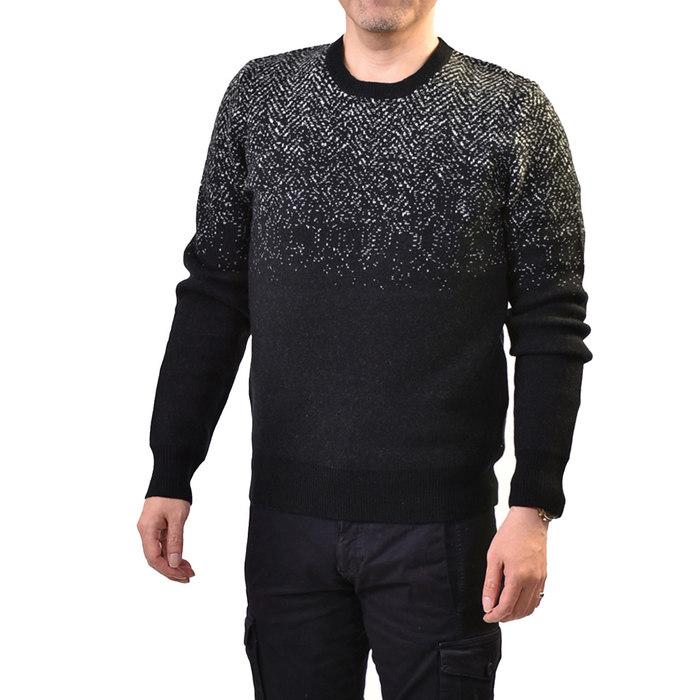 ウールリッチ ウール クルーネックセーター WOOLRICH WF3053 ブラック メンズ ギフト プレゼント