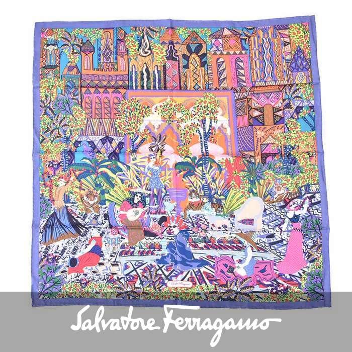 フェラガモ シルク スカーフ FERRAGAMO 31 6985 03 マルチ