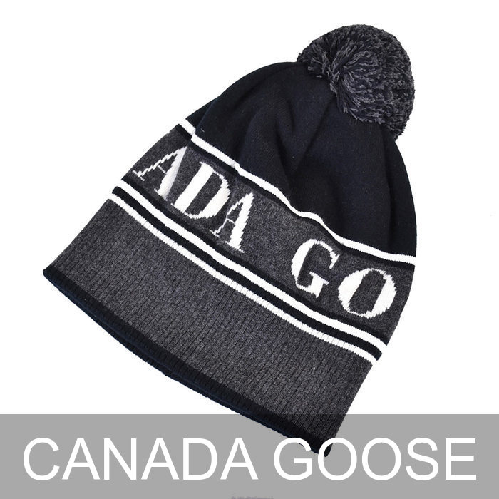 カナダグース ニットキャップ CANADA GOOSE POM TOQUE 5114M 61 ブラック