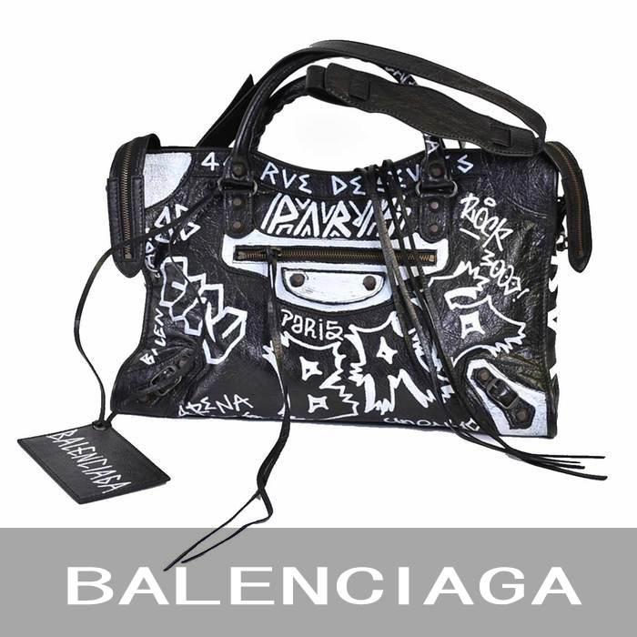 バレンシアガ グラフィティ クラシック シティ バッグ BALENCIAGA 505550 0FE1T ブラック ラスト1点 母の日 プレゼント