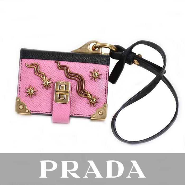 プラダ キーリング ミニメモチャーム PRADA 1TL101 ピンク ラスト1点 母の日 プレゼント