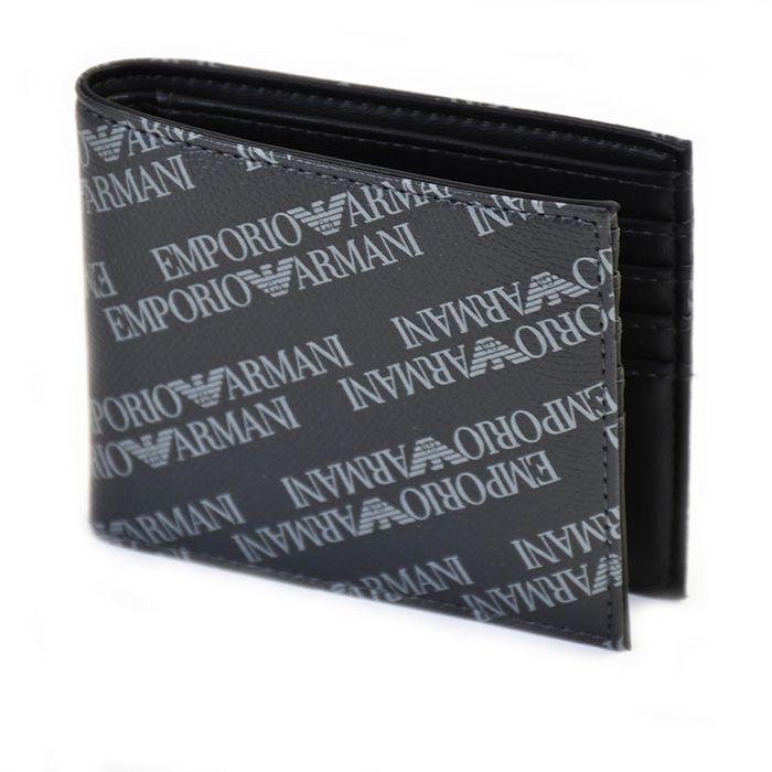 エンポリオアルマーニ 折財布 EMPORIO ARMANI Y4R168 YLO7E 86526 ブラック ギフト プレゼント