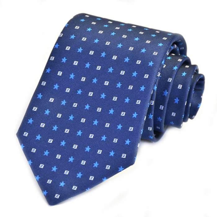 フェンディ ネクタイ FENDI A76E F0QA2 ブルー メンズ ギフト プレゼント 仕事 フォーマル ビジネス 入学祝い 就職祝い