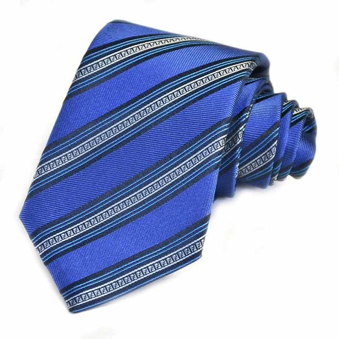 フェンディ ネクタイ FENDI A76N F0ZN0 ブルー メンズ ギフト プレゼント 仕事 フォーマル ビジネス 入学祝い 就職祝い