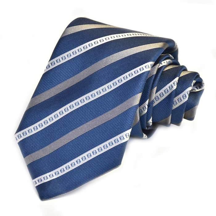 フェンディ ネクタイ FENDI A76O F048W ブルー メンズ ギフト プレゼント 仕事 フォーマル ビジネス 入学祝い 就職祝い