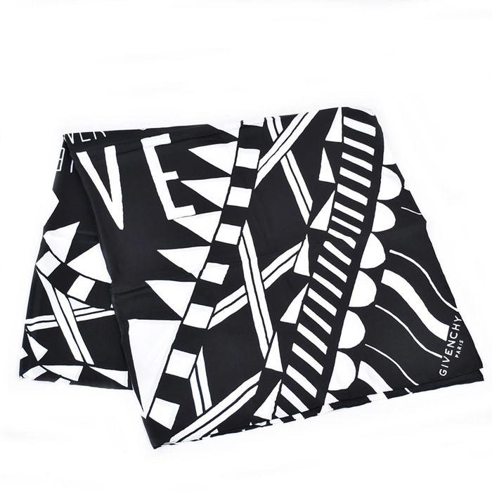 ジバンシー シルク スカーフ GIVENCHY BG02433850 004 ブラック/ホワイト 母の日 プレゼント