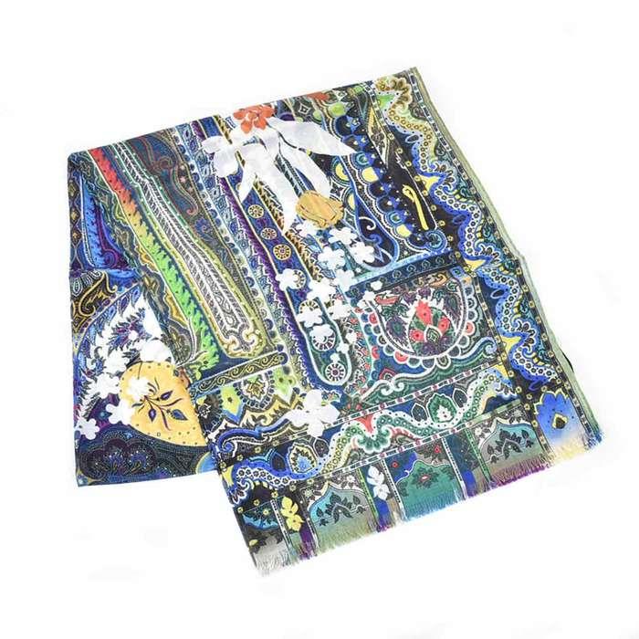 エトロ スカーフ デリー ETRO DHELY 12600 5731 0200 ブルー