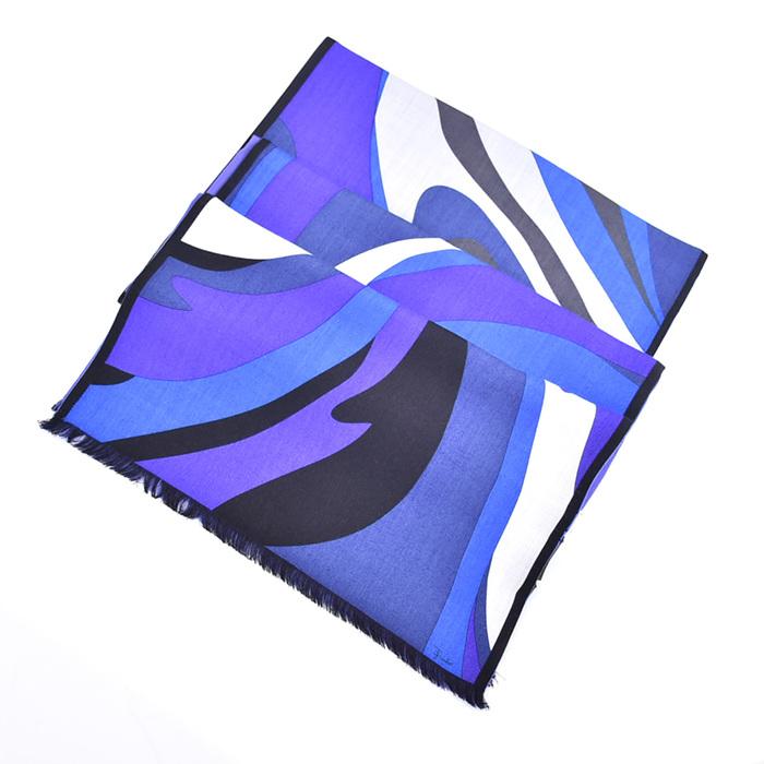 EMILIO PUCCI エミリオプッチ リバーシブルストール ブルー 652-2 母の日 プレゼント