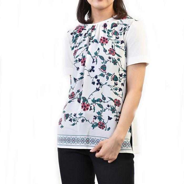 マックスマーラステュ-ディオ カットソー Tシャツ MAXMARA STUDIO FONDI 69410191 001 ホワイト