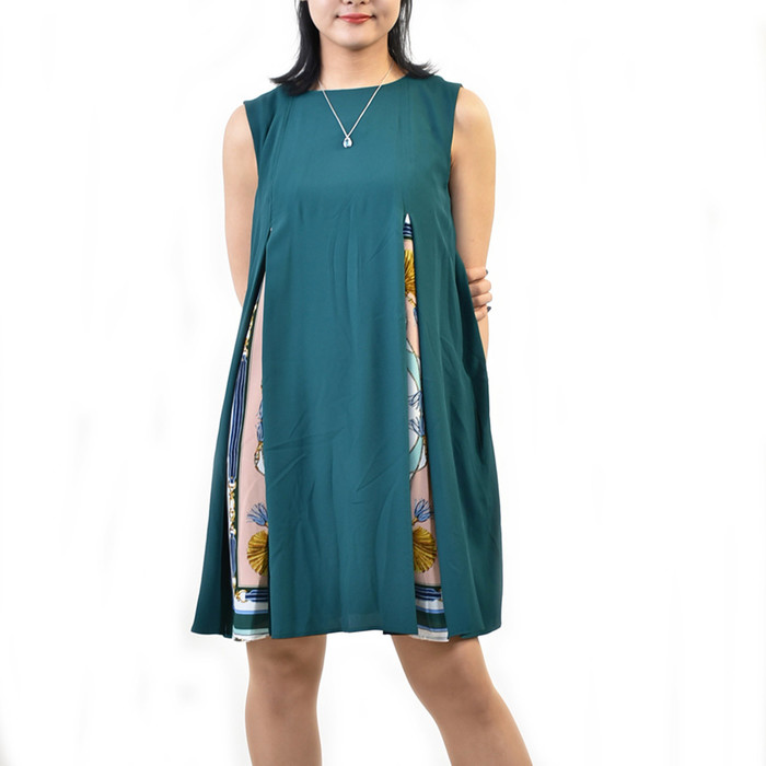 マレーラ プリーツワンピース MARELLA AFRA 32213792 003 グリーン