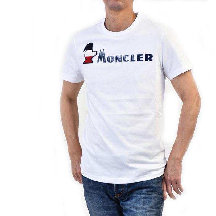 モンクレール Tシャツ MONCLER 8041850 8390T 001 ホワイト メンズ 半袖Tシャツ