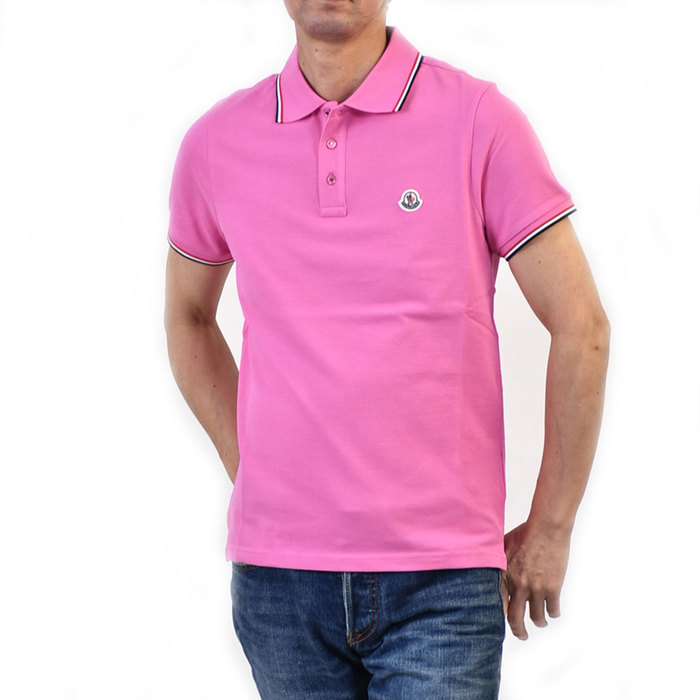 モンクレール ポロシャツ MONCLER 8345600 84556 530 ピンク カジュアル インナー ゴルフ