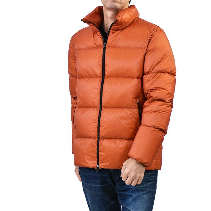 【62%OFF 半額以下】 ヘルノ バカップル ダウンジャケット HERNO PI0593U 12268 5500 オレンジ メンズ ギフト プレゼント