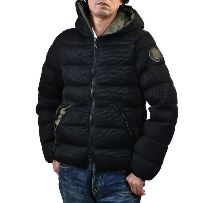 ハイドロゲン デュベティカ コラボ フーテッドダウンジャケット HYDROGEN 25D002 007 メッシュブラック  ギフト プレゼント