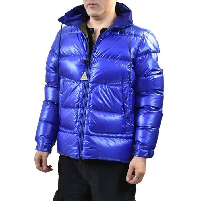 モンクレール ダウンジャケット MONCLER Badenne 539MM758 758 ブルー メンズ ラスト1点