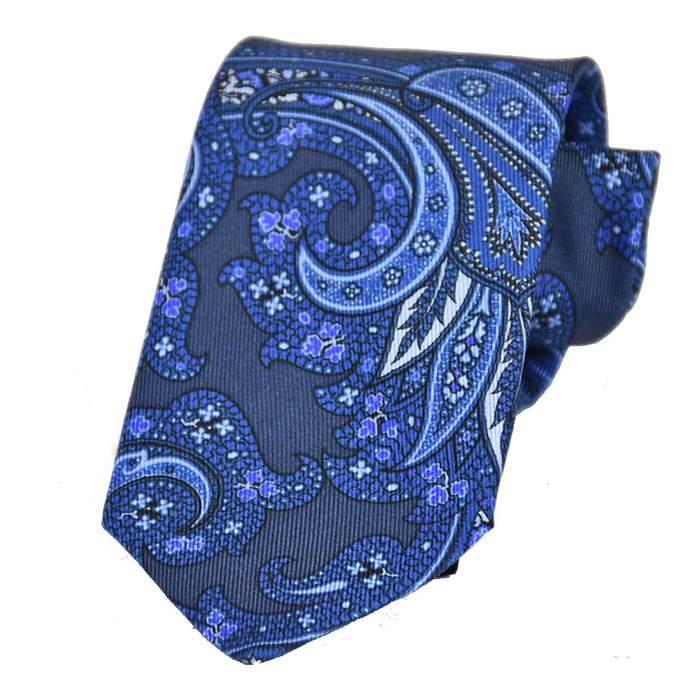 エトロ シルク ネクタイ 8.0×144 ETRO 5113 200 ブルー  メンズ