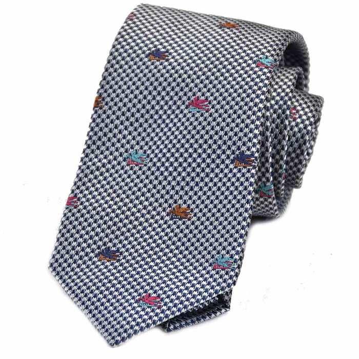 エトロ シルク ネクタイ 8.0×144 ETRO 3059 200 グレー メンズ ビジネス