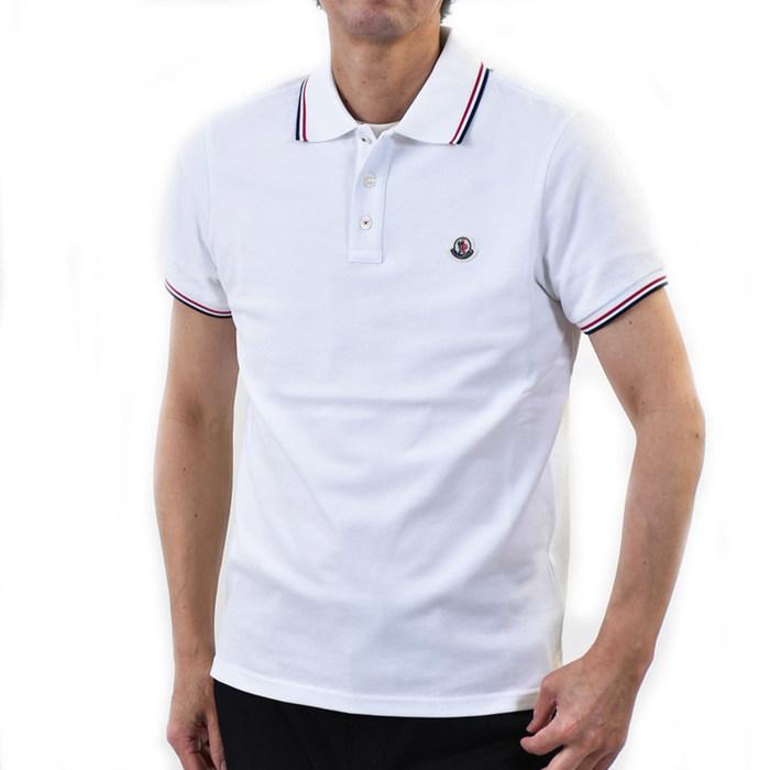 モンクレール 半袖 ポロシャツ MONCLER MANICA CORTA 8A703 00 84556 001 ホワイト メンズ【SPECIAL】
