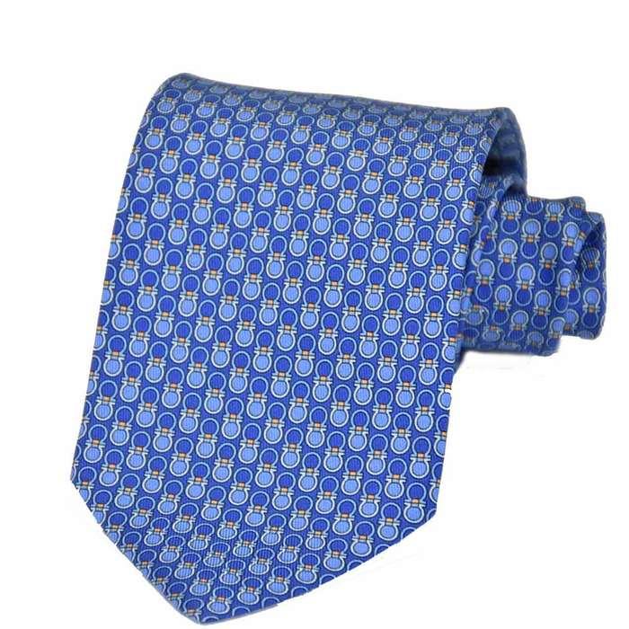 フェラガモ ネクタイ 8CM FERRAGAMO 8762 002 ブルー メンズ ビジネス フォーマル