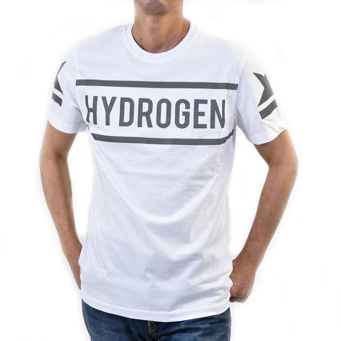 ハイドロゲン ハイドロゲン ロゴ反射プリント コットンTシャツ カットソー HYDROGEN 260624 D71 ホワイト 半袖 メンズ ポイント5倍