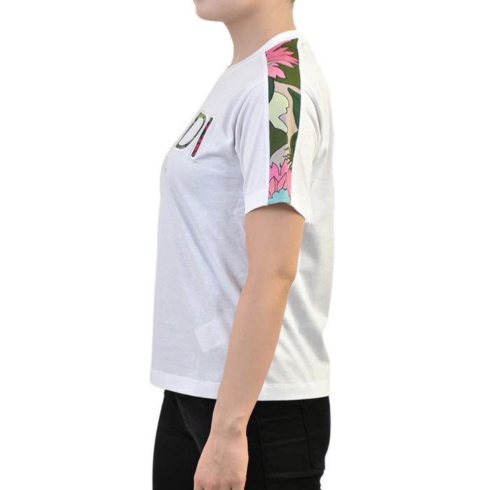 フェンディ Tシャツ FENDI FS7285 AC3CF0ZNM ボタニカルロゴ ホワイト レディース SPECIALnv0OymN8w