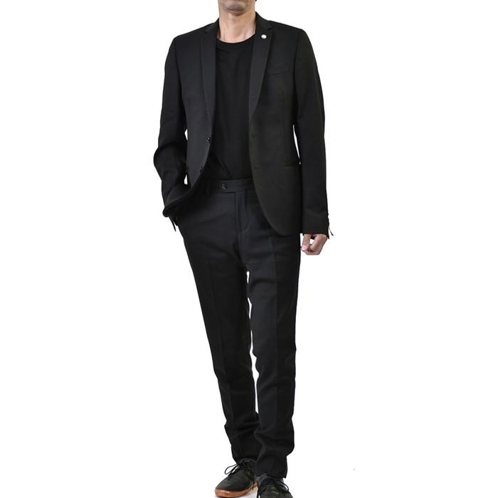 マニュエル リッツ シングル スーツ MANUEL RITZ 2531A3209 180500 99 ブラック ラスト1点【FINAL SALE】
