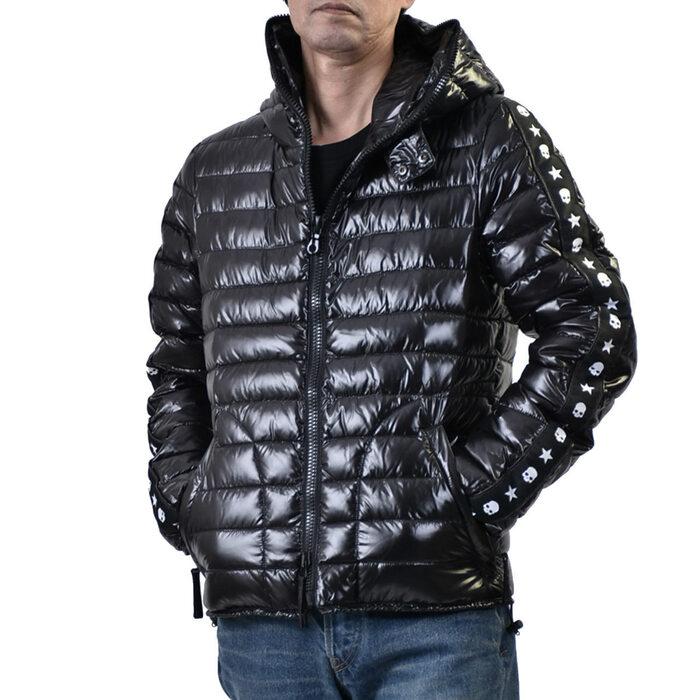 ハイドロゲン フーデッド ダウンジャケット HYDROGEN 23D008 007 ブラック