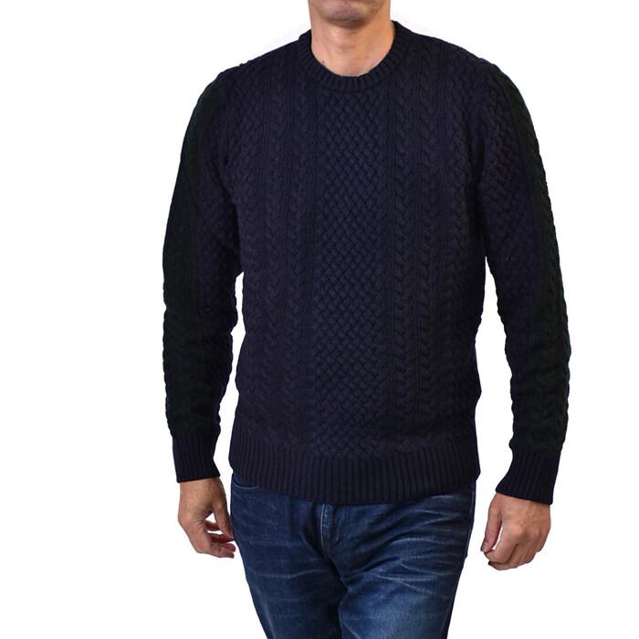 マニュエルリッツ クルーネックセーター MANUEL RITZ 2532M523 183852 89 ネイビー
