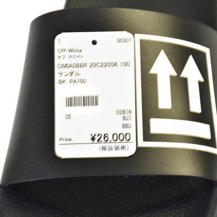 オフ ホワイト ロゴ フラットサンダル Off White OMIA088R 20C22056 1001 1001 ブラックc53Aj4qRL