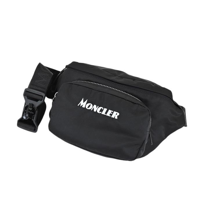 ユニセックス ウエストバッグ モンクレール ウエストポーチ ヒップバッグ MONCLER DURANCE 10 02SJM 新色 保証 ブラック 5M702 999