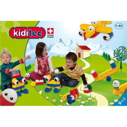Kiditec キディテック ナーサリー 83ピース~スイス生まれの組み立てブロック『Kiditec』。1歳から遊べる、お友達や兄弟と一緒に遊べるボリュームいっぱいのブロックセットです。